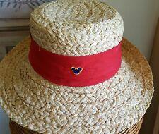 Mickey Mouse, Disney cruise line hat, Disney straw hat, UNISEX, NEW, Disney logo
