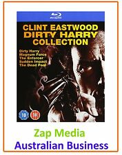 DIRTY HARRY MOVIES 1, 2, 3, 4 & 5 BLU RAY COLLECTION - BRAND NEW - FREE POSTAGE