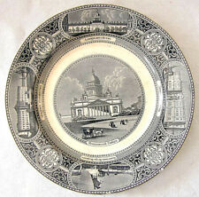 Antique Russian-English Porcelain Plate, Marked: St.Petersburg, A. Bros, 1866