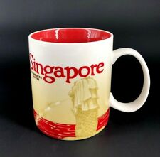 Starbucks Coffee Global Icon City Collector Series SINGAPORE Mug Cup 16oz RED