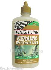 Finish Line Wet Ceramic Bike Lube Chain Oil Drip Bottle Economy Size 4oz