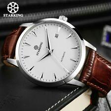 Herren Uhr Armbanduhr Lederband Business Analog Großes Display Retro