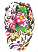 Temporary Tattoos Large Arm Body Waterproof Sticker Removable Arm Lotus