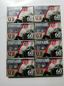 Lot of 8 Maxell High Bias XLII 60 Blank Audio Cassettes Brand New