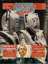 Doctor Who Magazine No.83 CELESTIAL TOYMAKER POSTER, HISTORY OF THE CYBERMEN