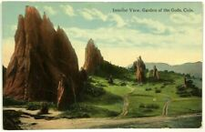 Interior Scenic Dirt Roads View Garden Of The Gods Colorado CO Vintage Postcard