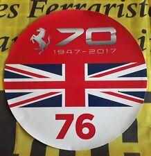 70 ème FERRARI ANNIVERSARY adhesif STICKER AUTOCOLLANT décalque NEUF original
