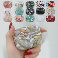 Marble Case Bluetooth Earphones Protective Cover Hard PC Shell For Airpods Pro
