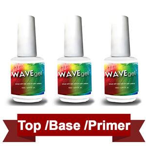 WAVEGEL Wave Gel Top Base Primer Bonder Coat Gel Easy Soak-Off Color Gel Lechat
