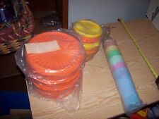LARGE VINTAGE LOT OF Tupperware MUTLI COLOR CUPS & LARGE BOWLS & SMALL BOWLS