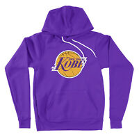 Los Angeles The Goat Kobe Bryant Lakers Black Mamba Hooded Logo Pullover Hoodie