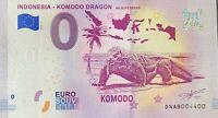 BILLET 0  EURO INDONESIA KOMODO DRAGON   2019   NUMERO 4400