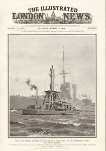 1916  ANTIQUE PRINT-WW1- AN AIR COMPRESSION VESSEL FOR LAYING MOORINGS