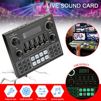 V9 Audio Sound Card 3.5mm Headset Live Studio Phone Computer Sound Adapter