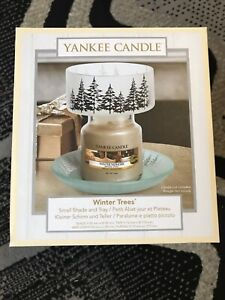 Yankee Candle Winter Trees Small Shade And Tray Combo Set