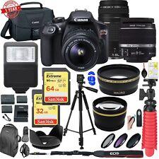 Canon EOS Rebel T6 With 18-55&75-300mm Lens W/ 96GB MC Mega Bundle