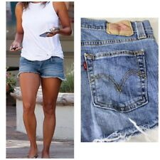 Levi's Slouch 513 Jean Shorts Cut-Offs Button Fly Mid Rise Size Medium Or Jr. 7