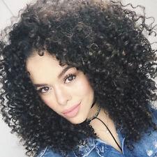 Women Fashion Wigs Synthetic Long Afro Kinky Curly Wigs Black Hair Full Wigs