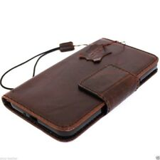 genuine vintage leather Case for samsung galaxy mega 2 book wallet cover magnet