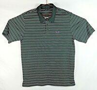 OAKLEY Men's Size: Large S/S Black Horizontally Striped Golf, Polo Shirt