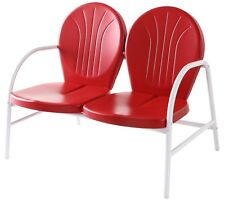 Crosley Griffith Metal Loveseat in Red Finish - CO1002A-RE