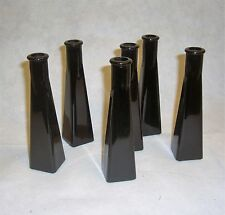 weddings 6 x Black Glossy Glass vases lounge dining room conservatory kitchen