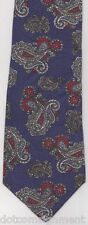 David Taylor  Blue & Burgundy Paisley Neck Tie Polyester