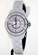 Chanel J12 White Ceramic 29mm White Diamond Dial H2570