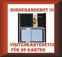 Visitenkartenmappe Visitenkartenetui Etui für 96 Karten weiches Kunstleder Neu
