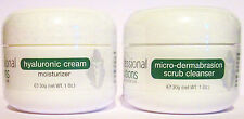 X 2 BEST SELLING PRODUCTS MICRO DERMABRASION SCRUB & HYALURONIC ACID MOISTURISER