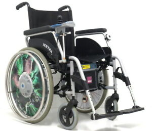 Alber Zusatzantrieb E-Fix 20 mit Rollstuhl Faltrollstuhl Meyra
