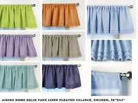 Aiking Home Faux Linen Semi-Sheer Pleated Valance 56 by 14 inches