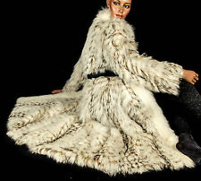 M Vintage blaufuchs manteau de fourrure White Fox Fur Coat Renard Renard Fourrure Finn la tragédie de raccoon