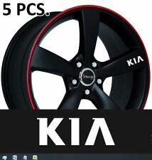 5pcs Kia Door Handle Wheel sticker decal Rio Optima Soul Sportage
