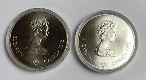 1973 Canada Elizabeth II Olympiade XXI Olympiad 2 Silver Coins Five Dollar
