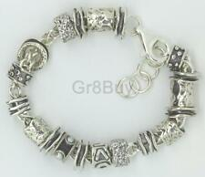 BRACELET: 925 Sterling Silver Charm/Trinket heavy (Made by Shablool)