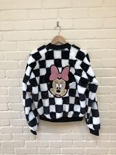 Just Hype Disney Minnie Mouse Checkered Bomber Puffa Jacket Coat UK 8 BNWT