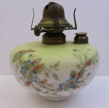 Clarks Fount Glass Font Footed Shelf Table Oil Keroscene Lamp (Aaj)