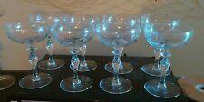 Potomac glass company set of 8 beautiful twist stems 1920s