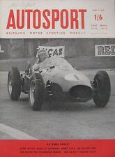 AUTOSPORT magazine 11/4/1958 featuring Monopole Panhard