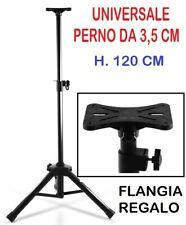 STATIVO CASSE ACUSTICHE TREPPIEDE SUPPORTO UNIVERSALE 120 CM H. + FLANGIA REGALO