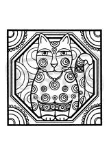 A7 'Retro Cat' Unmounted Rubber Stamp (SP00003949)