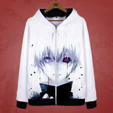Anime Tokyo Ghoul Kaneki ken Warm Zip Sweatshirt fashion Hoodie Jacket Coat #11