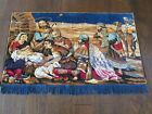 Vintage Mid Century Tapestry Tapestries Wall Hanging Nativity Religious Scene