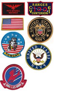 Top Gun Maverick Patch Set Pete Mitchell US Navy Sew On Flight Suit Patches New