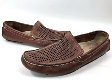 a31c29e376d Florsheim Brown Roadster Leather Loafer Moccasin Driving Slip On Mens Shoe  12D