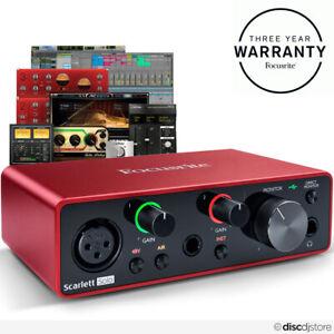 Focusrite Scarlett Solo (3rd Gen) USB Audio Interface + Free Plugin Bundle