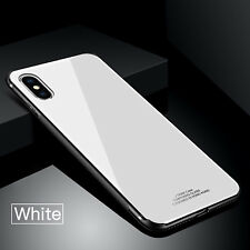For iPhone XS Max Hybrid TPU Shockproof Case Tempered Glass Back Slim Cover US