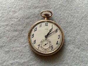 Swiss Made 15 Jewels CYMA Mechanical Wind Up Vintage Pocket Watch