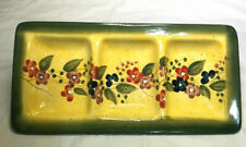 "Tabletops Gallery~Fleurs De Provence, 3 Section Serving Tray 12"" x 6"""